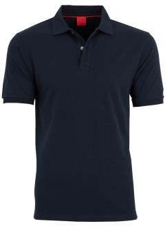 OLYMP Level 5 body fit polo donkerblauw pique