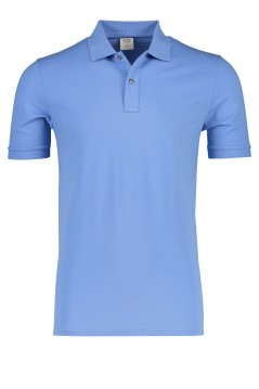 Olymp polo Level 5 lavendel blauw body fit