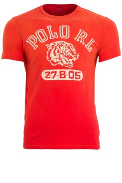 Ralph Lauren t-shirt red tiger custom fit