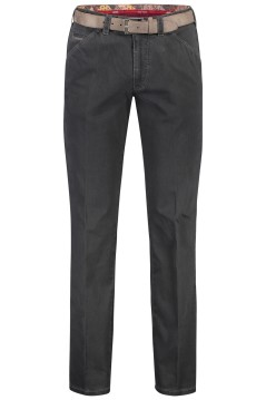 Meyer pantalon Chicago 5-pocket riem antraciet