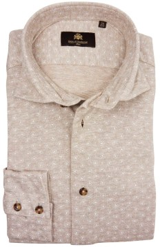 Circle of Gentlemen Jaylan shirt beige motief