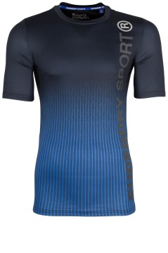 Superdry Sports t-shirt blauw motief