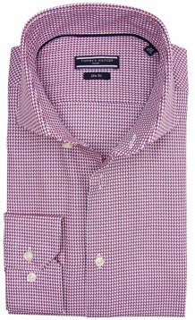 Tommy Hilfiger Tailored shirt rood blauw motief