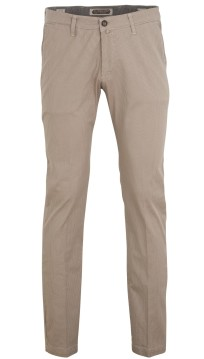 Four.ten Industry pantalon beige stipmotief