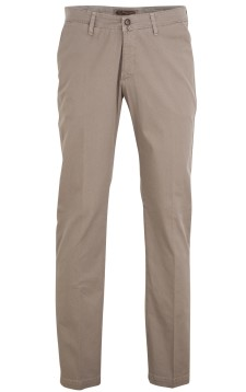 Four.ten Industry pantalon donkerbeige motief