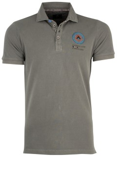 New Zealand poloshirt grijsgroen