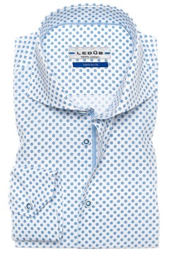 Ledub Shirt dress ml 7 Middenblauw 140 Lich