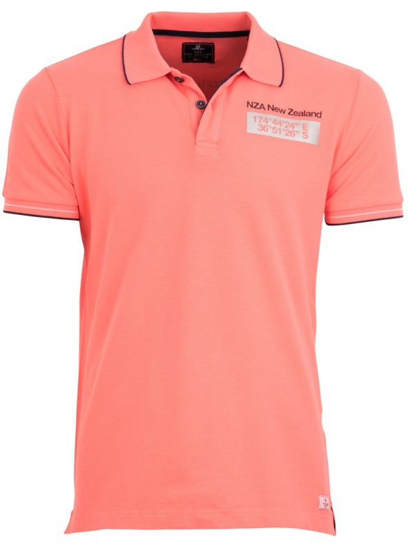 New Zealand polo Clarke neon orange