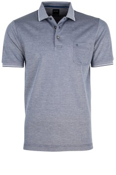 OLYMP polo donkerblauw melange modern fit