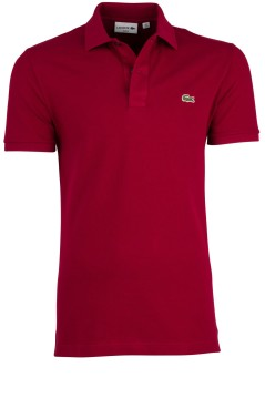 Lacoste polo Slim Fit piqué bordeaux