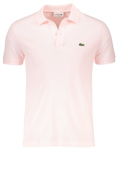Lacoste polo lichtroze slim fit