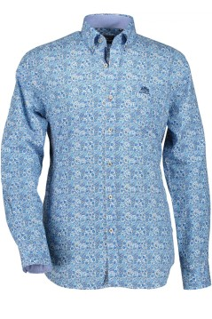 State of Art casual overhemd blauwe print