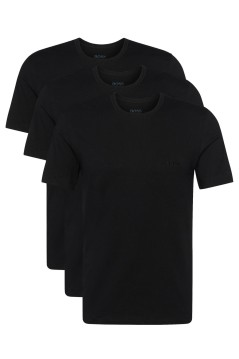 Hugo Boss t-shirt RN 3P CO zwart 3-pack