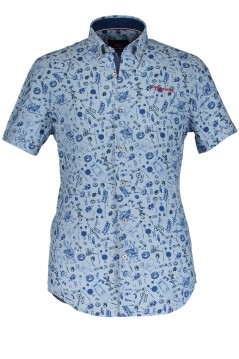State of Art Shirt Korte Mouw Button Down
