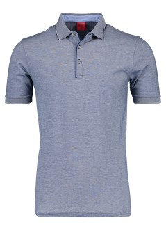 OLYMP Level Five polo donkerblauw melange body fit