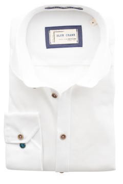Blue Crane slim fit overhemd wit katoen