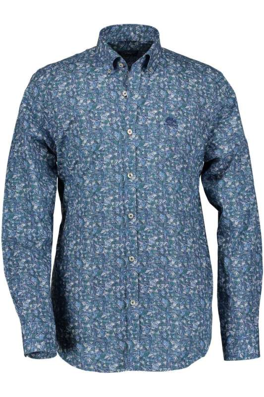 Overhemd State of Art blauw print button down