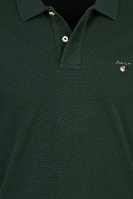 Lange mouwen polo donkergroen Gant Regular Fit