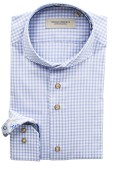 Thomas Regency shirt lichtblauw geruit
