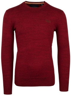 Superdry Orange Label trui ronde hals rood melange