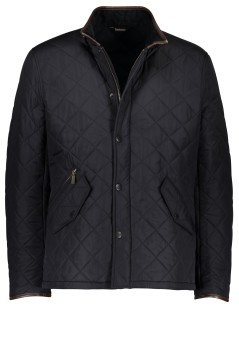 Barbour Powell Quilted jack donkerblauw