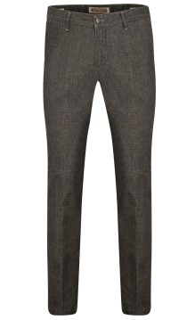 Four.ten Industry broek grijs melange slim fit