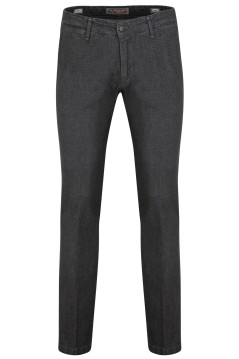 Broek Four.ten Industry grijs melange slim fit
