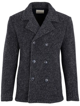 Wool & Co herenjas blauw melange