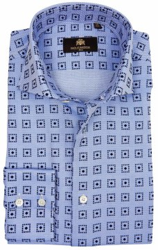 Circle of Gentlemen shirt lichtblauw print Khamari