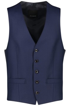 Roy Robson gilet donkerblauw wol