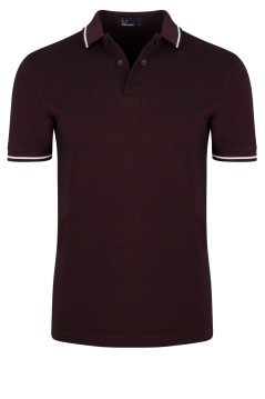 Fred Perry twin tipped polo bordeaux