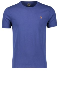 Custom slim fit Ralph Lauren t-shirt blauw logo