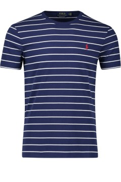 Ralph Lauren t-shirt streepje navy custom slim fit