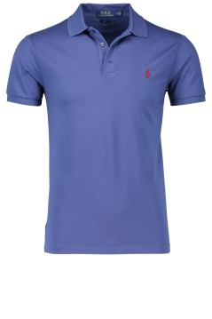 Blauw slim fit polo Ralph Lauren