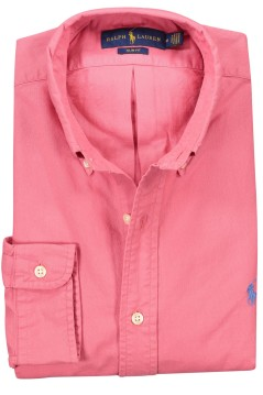 Ralph Lauren overhemd roze oxford slim fit