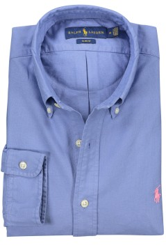 Ralph Lauren blauw overhemd oxford slim fit