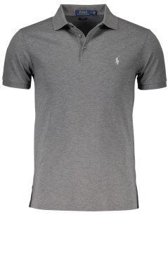 Ralph Lauren polo grijs melange stretch slim fit