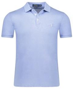 Ralph Lauren stretch poloshirt lichtblauw slim fit