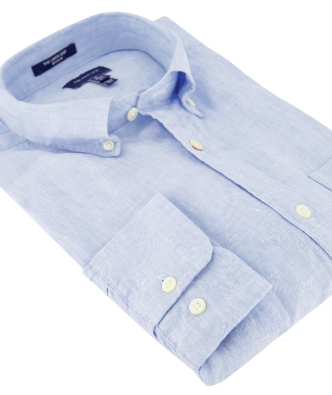 Gant linnen overhemd capri blue button down