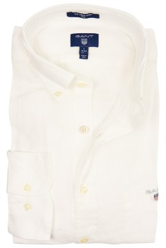 Gant shirt slim fit wit linnen