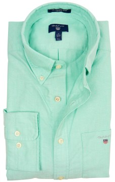 Gant regular fit overhemd mintgroen Oxford