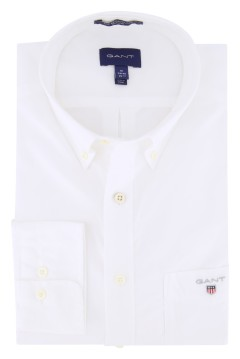 Gant overhemd wit 'the plain broadcloth'