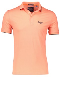 Superdry polo fluor coral slim fit