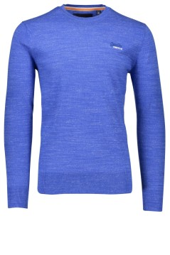 Superdry Orange Label trui azuurblauw ronde hals