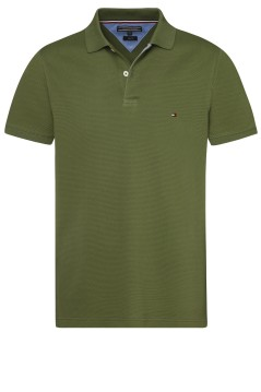 Tommy Hilfiger polo slim fit groen structuur