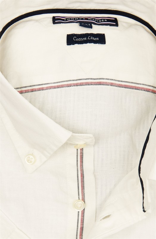 Tommy Hilfiger shirt korte mouw Big & Tall wit