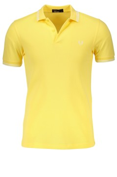Fred Perry geel poloshirt twin tipped