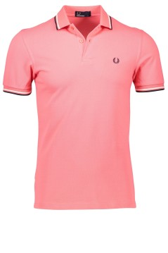 Fred Perry poloshirt koraal Twin Tipped