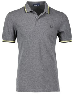 Fred Perry polo donkergrijs met logo