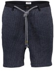 Distretto korte broek blauw wit stretch